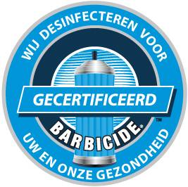 barbicide raamsticker